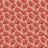 花卉模式红色无缝 库存图片