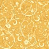 花卉模式黄色 库存照片