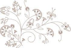 花卉模式,工厂装饰品 免版税图库摄影