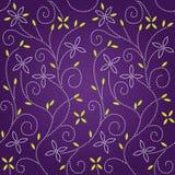 花卉模式紫色无缝的漩涡 库存照片