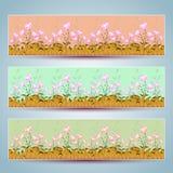 花卉横幅传染媒介 图库摄影