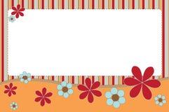 花卉横幅 免版税库存照片