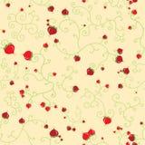 花卉浆果无缝的模式 向量例证