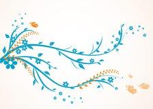 花卉漩涡设计 免版税库存图片