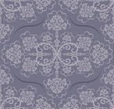 花卉灰色无缝的墙纸 免版税图库摄影