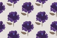 花卉牡丹无缝的样式 图库摄影
