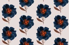 花卉牡丹无缝的样式 库存照片