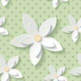 花卉现代墙纸 库存例证