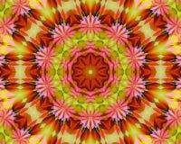 花卉瑜伽坛场 库存图片