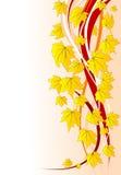 花卉秋天背景 向量例证