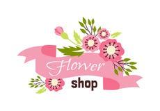 花卉精品店例证 库存照片
