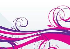花卉紫色通知 皇族释放例证