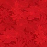 花卉红色无缝的墙纸 免版税库存照片