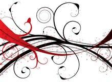 花卉红色漩涡 免版税图库摄影