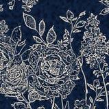 花卉纹理重复现代样式 皇族释放例证
