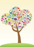 花卉结构树 免版税库存图片