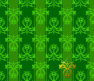 花卉绿色木套鞋 库存照片