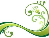 花卉绿色模式 库存例证