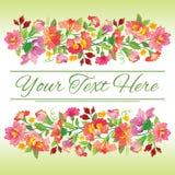 花卉美丽的看板卡 免版税库存图片