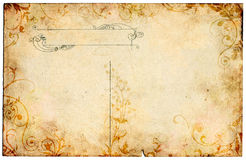 花卉老明信片 皇族释放例证