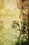 花卉老纸模式 库存图片
