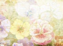 花卉老纸纹理 免版税库存图片