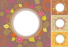 花卉背景。4个颜色版本! 图库摄影
