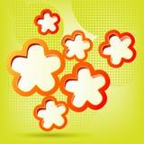 花卉背景以绿色 向量例证