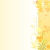 花卉背景在早期的秋天 库存例证