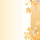 花卉背景在秋天 皇族释放例证