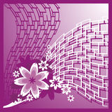 花卉背景构成 图库摄影
