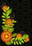 花卉背景框架 免版税库存照片