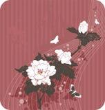 花卉背景蝴蝶 免版税图库摄影