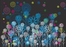花卉背景设计 库存照片