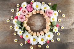 花卉花圈框架 图库摄影