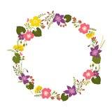 花卉花圈 向量例证
