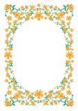 花卉花框架 皇族释放例证