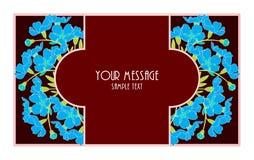 花卉葡萄酒卡片 库存图片