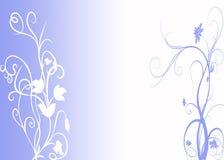 花卉蓝色设计 免版税库存照片