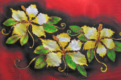 花卉蜡染布幻想 库存图片