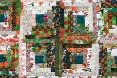 花卉补缀品的片段 免版税库存图片