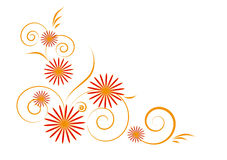 花卉装饰图案 免版税库存照片