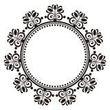 花卉装饰圆的框架 免版税图库摄影