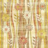 花卉装饰样式-波浪装饰-无缝的背景 图库摄影