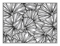 花卉装饰装饰着色页 库存图片