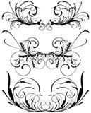 花卉装饰设计要素 库存例证