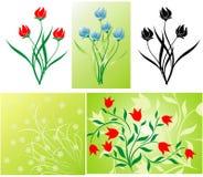 花卉装饰 向量例证