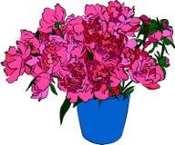 花卉要素,向量例证 免版税库存照片