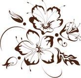 花卉设计,向量例证 库存照片