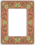 花卉边界或框架 白色空间在中心 免版税库存照片